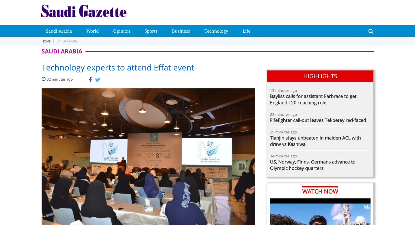 Saudi gazette technology experts to speak at effat event scott amyx to speak on renewable energy blueprint for saudi arabia malvernweather Choice Image