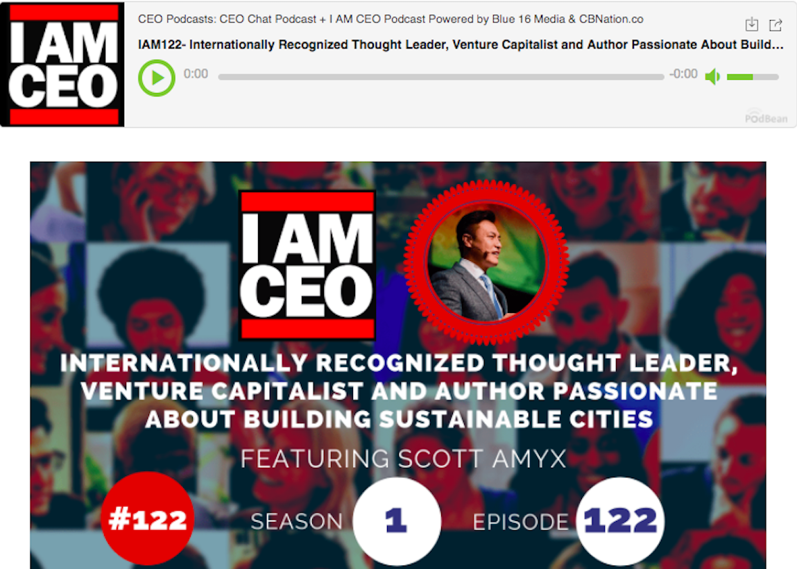 Scott Amyx Interviewed on I Am CEO Podcast
